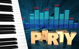 för teckenparti för parti 3d tecken Fotografering för Bildbyråer