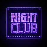 för teckenstadion för neon ny yankee Nattklubb royaltyfri illustrationer