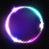 för teckenstadion för neon ny yankee Techno ram med att glöda och ljus stock illustrationer