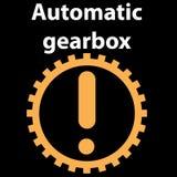 För teckensymbol för automatisk överföring illustration för vektor Auto fel för bilkontrollsymbol DTC Dasboard pictogram royaltyfri illustrationer
