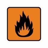 För teckenvektor för brännbart material design Royaltyfria Bilder