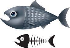 för tecknad filmbegreppet för konst 3d fisken framför Arkivbild