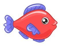 för tecknad filmbegreppet för konst 3d fisken framför Royaltyfri Bild