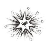För tecknad filmdynamit för vektor svart explosion vektor illustrationer