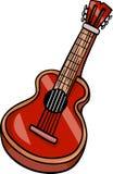 För tecknad filmgem för akustisk gitarr konst Arkivbilder