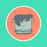 För tecknad filmpojke för illustration hand dragen levande död i a vektor illustrationer