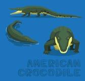 För tecknad filmvektor för amerikansk krokodil illustration Arkivbild