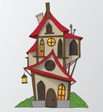 För tecknad filmvektor för roligt hus illustration Arkivbilder