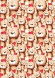 För Teddy Bear Saint Valentine för tecknad film älskvärd textur för modell för bakgrund för dag ` s royaltyfri illustrationer