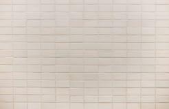 För tegelplattavägg för vit fyrkant textur för bakgrund arkivbild