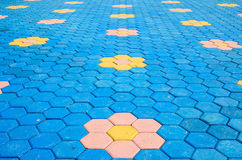 För tegelstengarnering för golv färgrik textur för tegelplatta arkivfoto