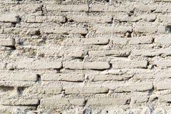 För tegelstenvägg för gammal tappning vit bakgrund för textur Royaltyfria Bilder