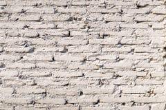 För tegelstenvägg för gammal tappning vit bakgrund för textur Royaltyfri Fotografi