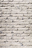 För tegelstenvägg för gammal tappning vit bakgrund för textur Royaltyfria Foton