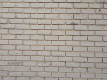 För tegelstenvägg för vit brun textur arkivfoto