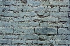 För tegelstenvägg för gammal grunge grå textur Royaltyfri Bild