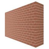 För tegelstenväggen för diagonalen isoleras brun textur med ett perspektiv på vit bakgrund vektor illustrationer
