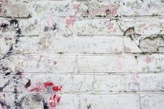 För tegelstenyttersida för ljus målar den smutsiga målade närbilden, rosa färg Färgrik grungetextur av väggen abstrakt tappning f Royaltyfri Bild