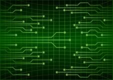 För teknologibegrepp för grön abstrakt cyber framtida bakgrund, strömkrets, binär kod Arkivbilder