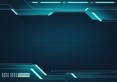 För teknologiHUD för Digital bild begrepp manöverenhet med strömkretsmicr Arkivbilder