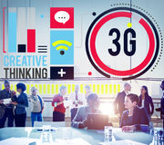 för teknologiinnovation för nätverkande 3G begrepp för anslutning Arkivbilder