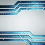 För teknologimanöverenhet för Digital bild begrepp med strömkretsmicrochi Arkivfoto