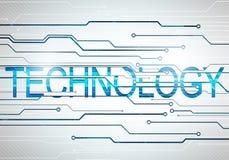 För teknologiord för Digital bild begrepp med strömkretsmikrochipens Royaltyfria Bilder