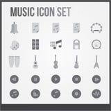 För temauppsättning för musik plan symbol vektor illustrationer
