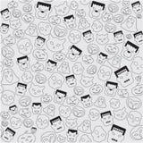 För temauppsättning för musik plan symbol stock illustrationer