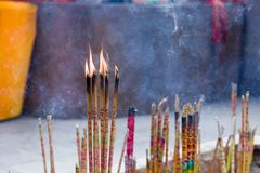 För tempelrökelse för rökelse kinesisk ugn Royaltyfria Foton