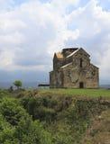 för tempelsikt för agubedia medeltida by Arkivfoto