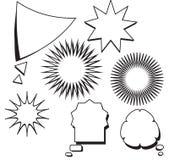 För textanförande för tom mall komisk uppsättning för stjärna för bubbla vektor illustrationer