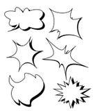 För textanförande för tom mall komisk uppsättning för stjärna för bubbla stock illustrationer