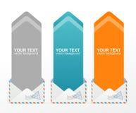 För textask för vektor färgrik pil Royaltyfri Fotografi