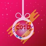 För textdesign för lyckligt nytt år 2018 vektor Royaltyfria Foton