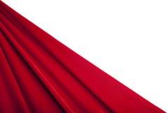 för textiltextur för bakgrund röd sammet Arkivfoton