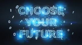 För textmanöverenhet 3D för framtida beslut tolkning royaltyfri illustrationer