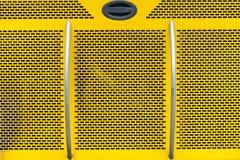 För texturabstrakt begrepp för gul metall bakgrund Arkivbild
