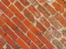 för texturbakgrund för röd tegelsten diagonala tegelplattor royaltyfria foton