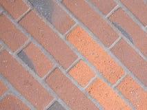 för texturbakgrund för röd tegelsten diagonala tegelplattor royaltyfri bild