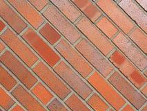 för texturbakgrund för röd tegelsten diagonala tegelplattor fotografering för bildbyråer