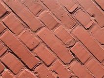 för texturbakgrund för röd tegelsten diagonala tegelplattor arkivfoton