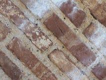för texturbakgrund för röd tegelsten diagonala tegelplattor arkivfoto