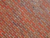 för texturbakgrund för röd tegelsten diagonala tegelplattor arkivbilder
