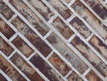 för texturbakgrund för röd tegelsten diagonala tegelplattor arkivbild