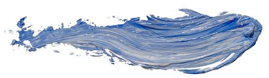 För texturmålarfärg för blå och vit olja slaglängd för borste för fläck royaltyfri fotografi