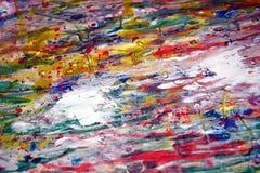 För texturmålarfärg för röd målarfärg rosa purpurfärgade guld- vita fläckar för vattenfärg Arkivbilder