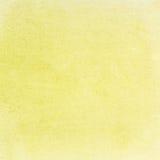 för texturvattenfärg för klartecken paper yellow Royaltyfri Foto