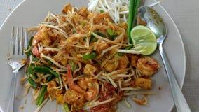 För thai thai mat nudelmeny för block Royaltyfri Foto
