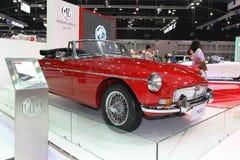 För Thailand för MG B bilskärm expo 2013 för motor International Royaltyfria Bilder